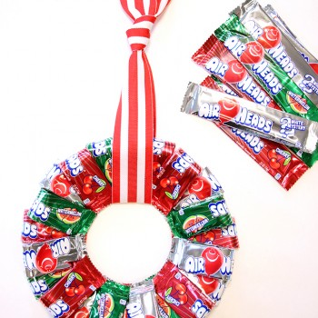 Airheads Christmas Candy Wreath