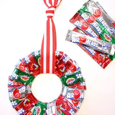 Airheads Christmas Candy Wreath