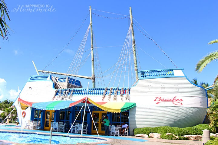 Bobby D's Pirate Ship 50's Diner Restaurant at Beaches Turks and Caicos