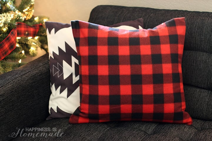 Buffalo Check Plaid Holiday Pillow from a Target Dollar Spot Blanket