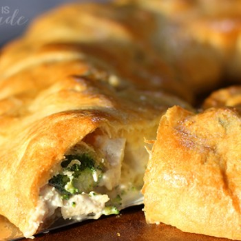 Chicken & Broccoli Crescent Roll Ring
