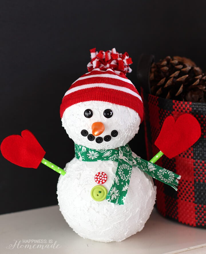 Christmas Snowman Holiday Decoration Happiness Is Homemade