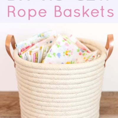 DIY No-Sew Rope Baskets
