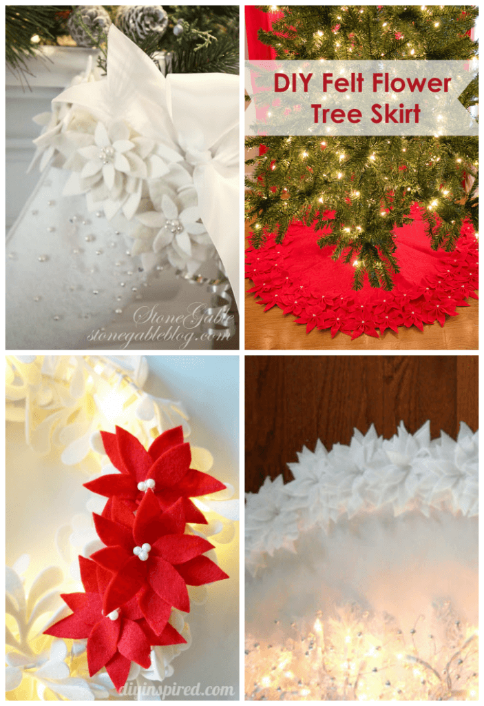 Felt Poinsettia Projects
