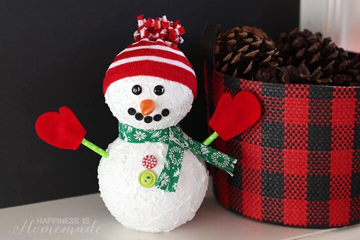 Floracraft Foam Ball Holiday Snowman