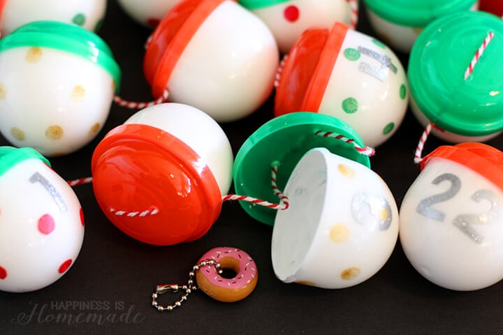 Gumball Machine Trinkets Advent Calendar