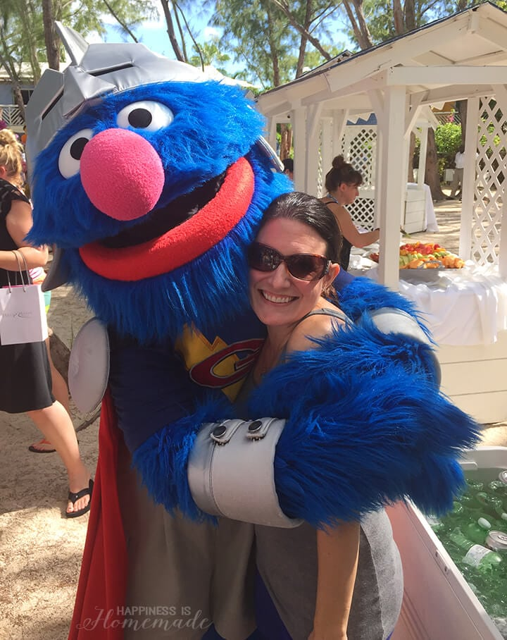 Hanging Out with Super Grover at Beaches Resorts Turks and Caicos