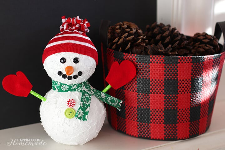 Holiday Snowman from Floracraft Foam Balls