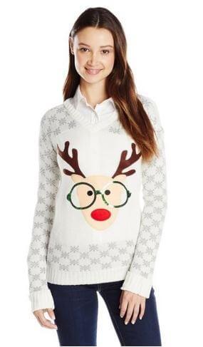 Nerdy Reindeer Christmas Sweater