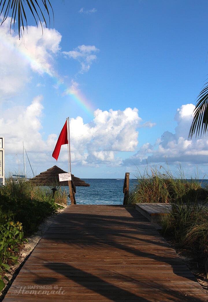 Rainbow Over Beaches Turks and Caicos