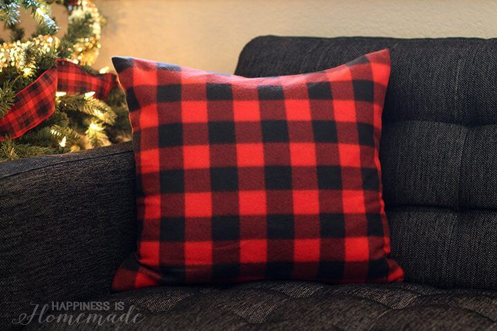 Buffalo Check Plaid Pillows from a $3 Target Blanket