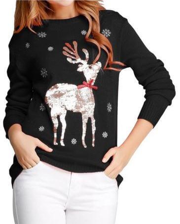 Shimmery Deer Sweater