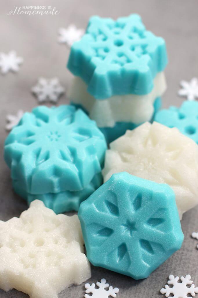 Shimmery Sugar Scrub Snowflakes