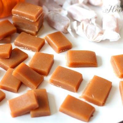 Sugar-Free Pumpkin Spice Caramels