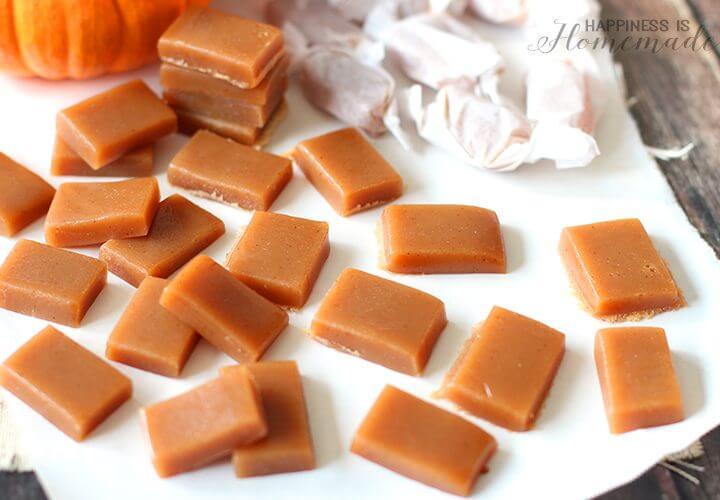 No Sugar Added Pumpkin Spice Caramels