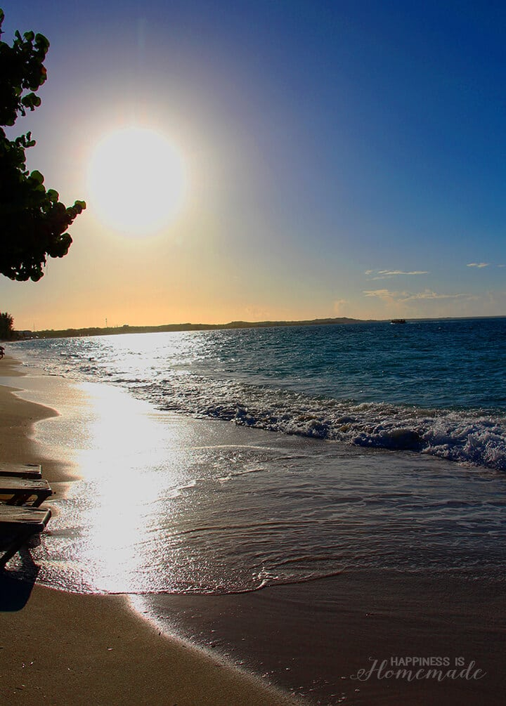 Sun Sinking over the Ocean at Beaches Turks and Caicos