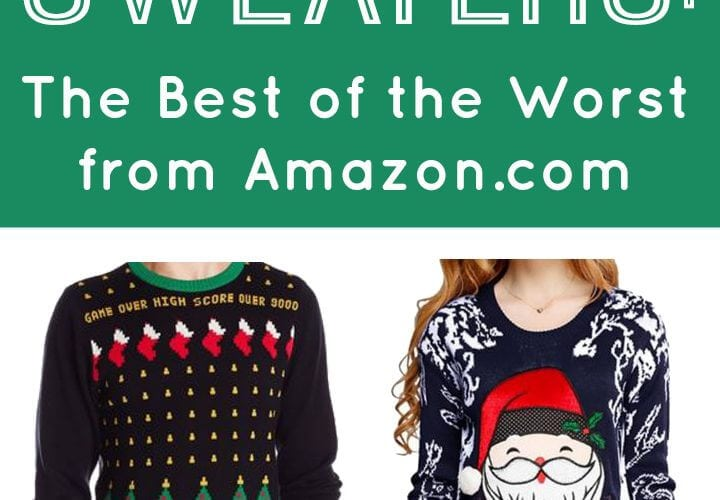 ugly christmas sweaters the best of the worst from amazoncom happiness is homemade - Ugly Christmas Sweater Amazon