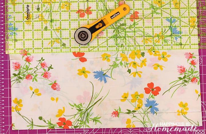 Vintage Sheet Fabric Strips