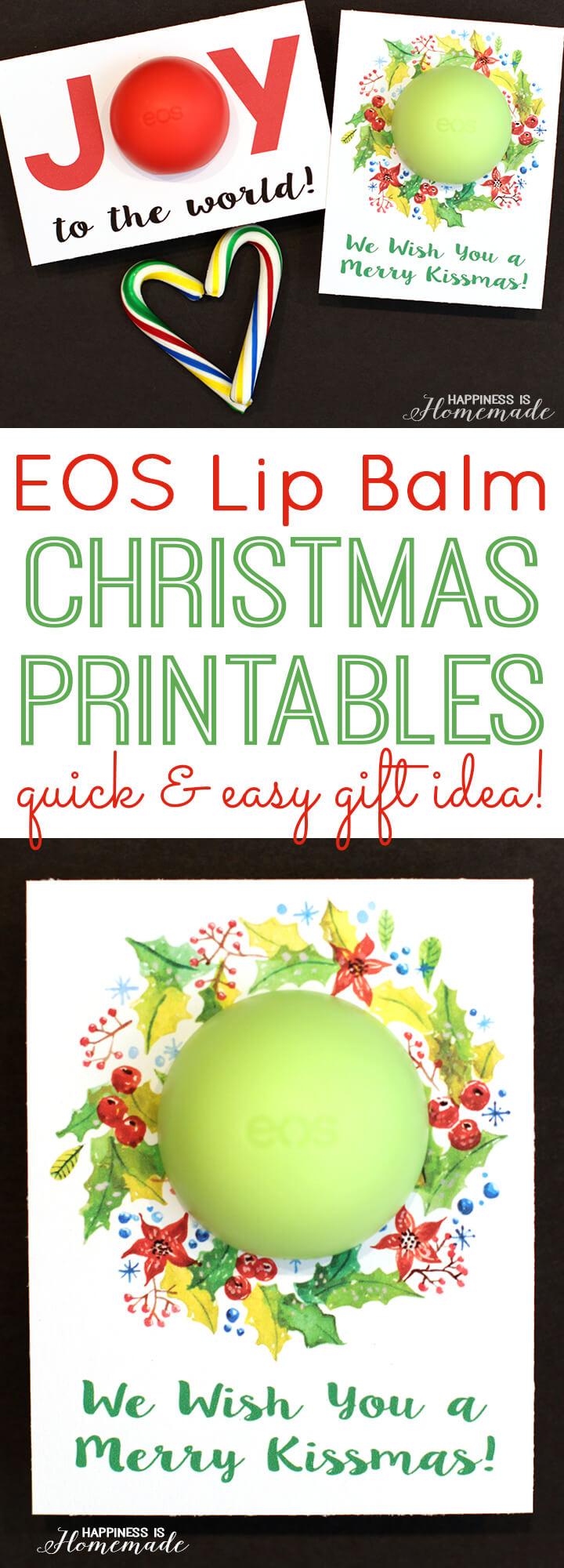 EOS Lip Balm Christmas Printables Gift Idea