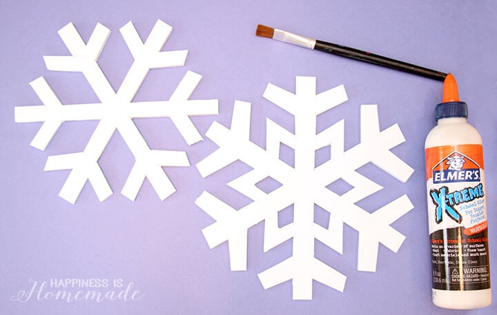 Foam Core Snowflake Decorations