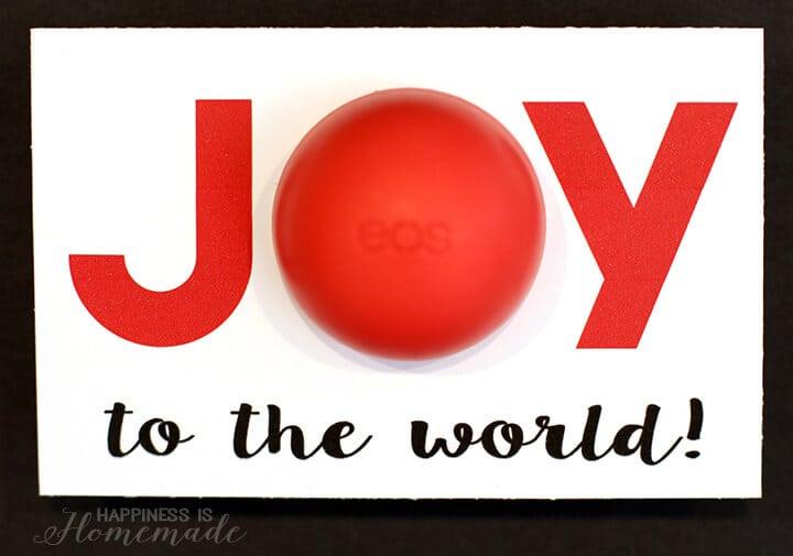 Joy to the World Christmas Printable for EOS Lip Balm