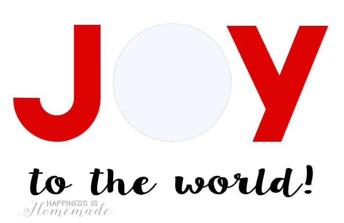 Joy to the World EOS Lip Balm Printable for Christmas