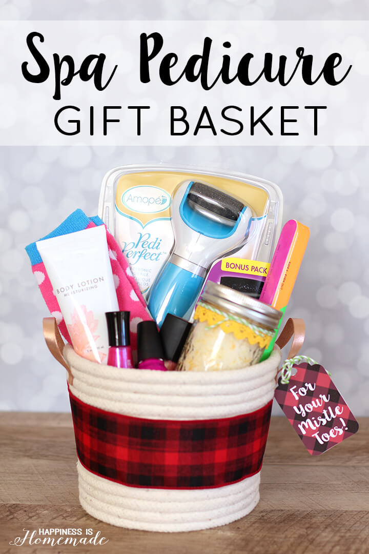 Spa Pedicure Gift Basket with Amopé Pedi Perfect