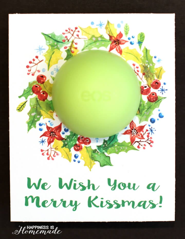 We Wish You a Merry Kissmas EOS Printable for Christmas