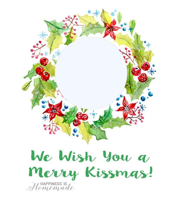 EOS Lip Balm Christmas Printables - Happiness is Homemade