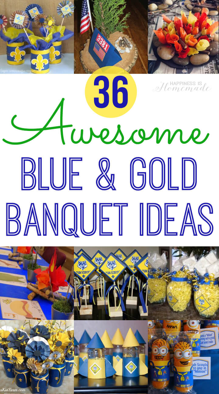 graphic regarding Cub Scout Printable referred to as Cub Scout Blue Gold Banquet Designs - Joy is Handmade