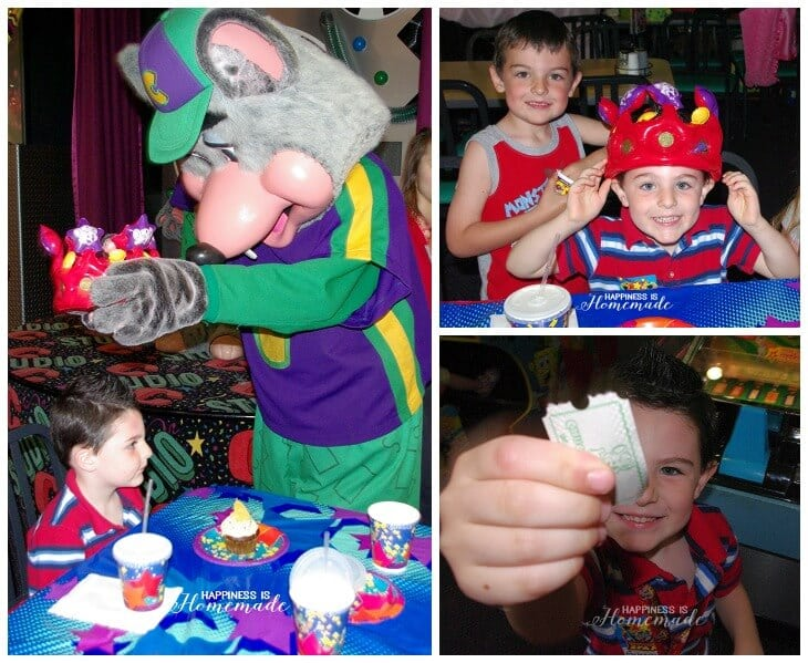 Chuck E Cheese Birthday Collage