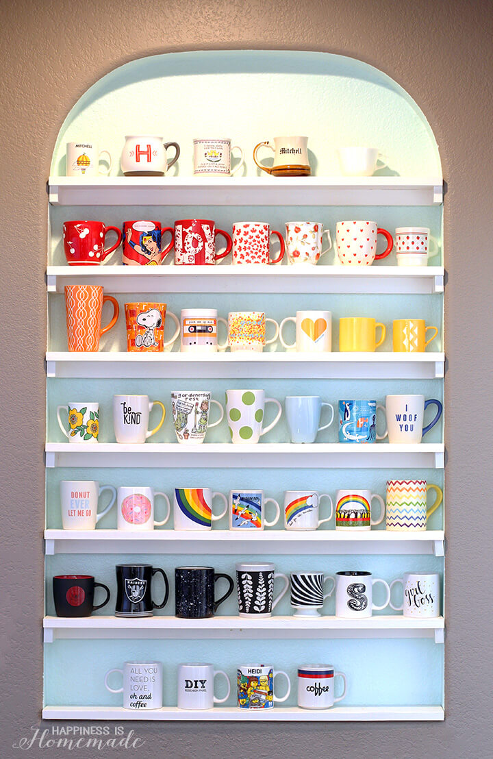 Diy Mug Collection Display Shelves Happiness Is Homemade