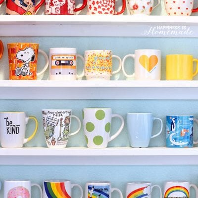 DIY Mug Collection Display Shelves