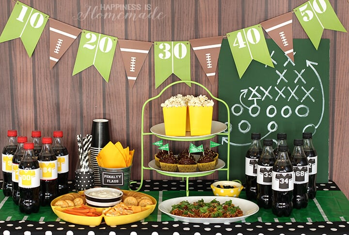 Football party for the big game happiness is homemade for How to throw a big party