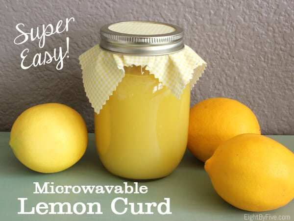 Easy Microwave Lemon Curd - Happiness is Homemade