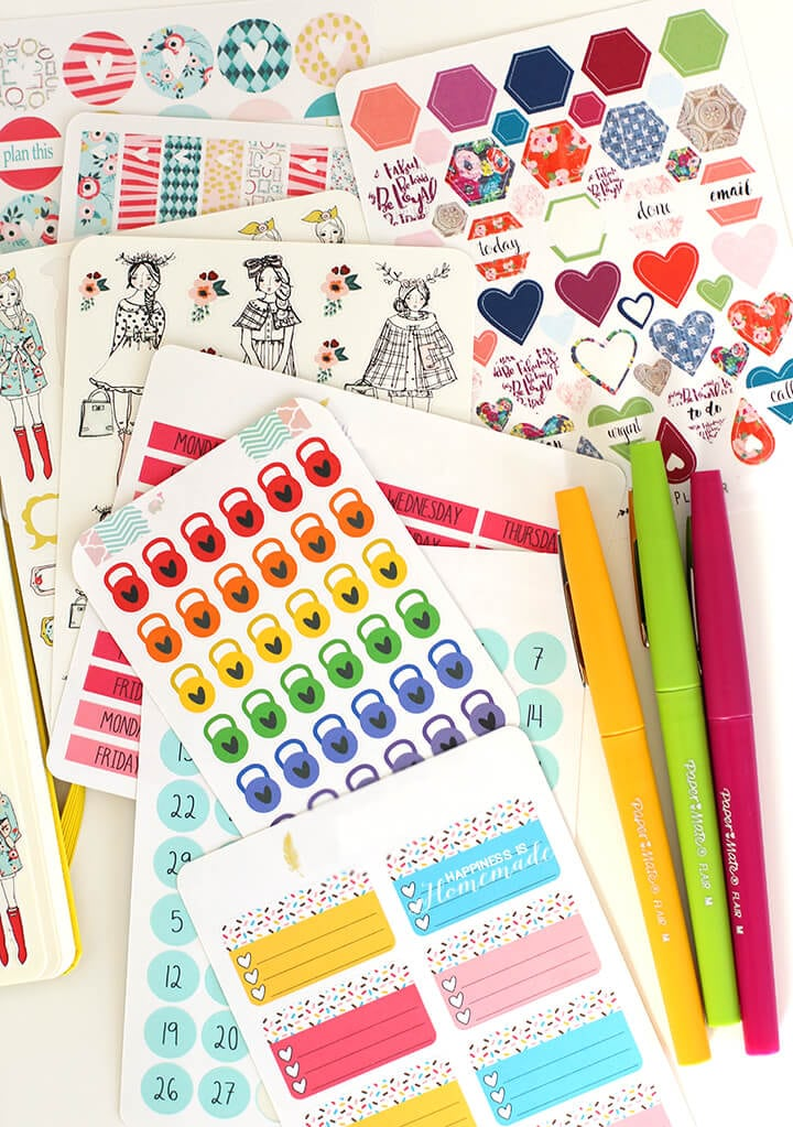 Planning Essentials - PaperMate Flair Pens and Planner Stickers