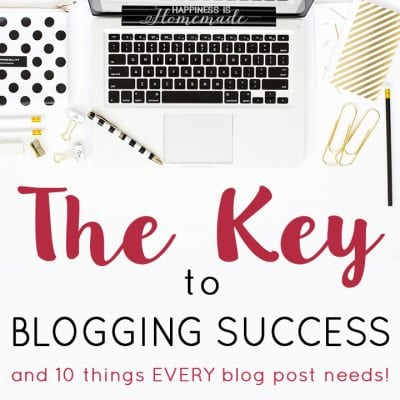 How to Start a Blog: Part 3 – The Key to Success