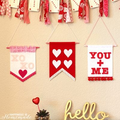 Valentine's Day Felt Wall Banners