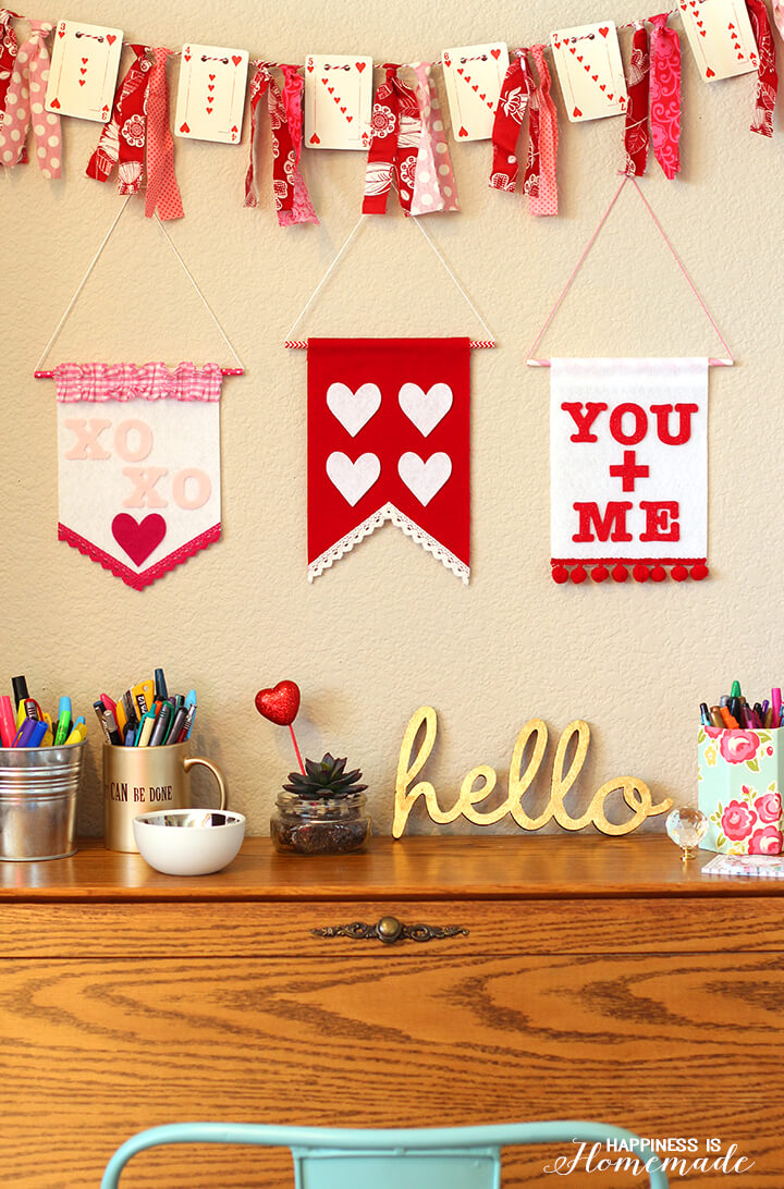Valentine's Day Felt Wall Banners and Decorations