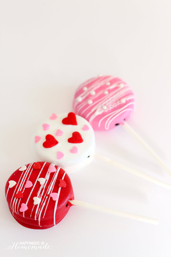 Valentine S Day Oreo Pops Happiness Is Homemade
