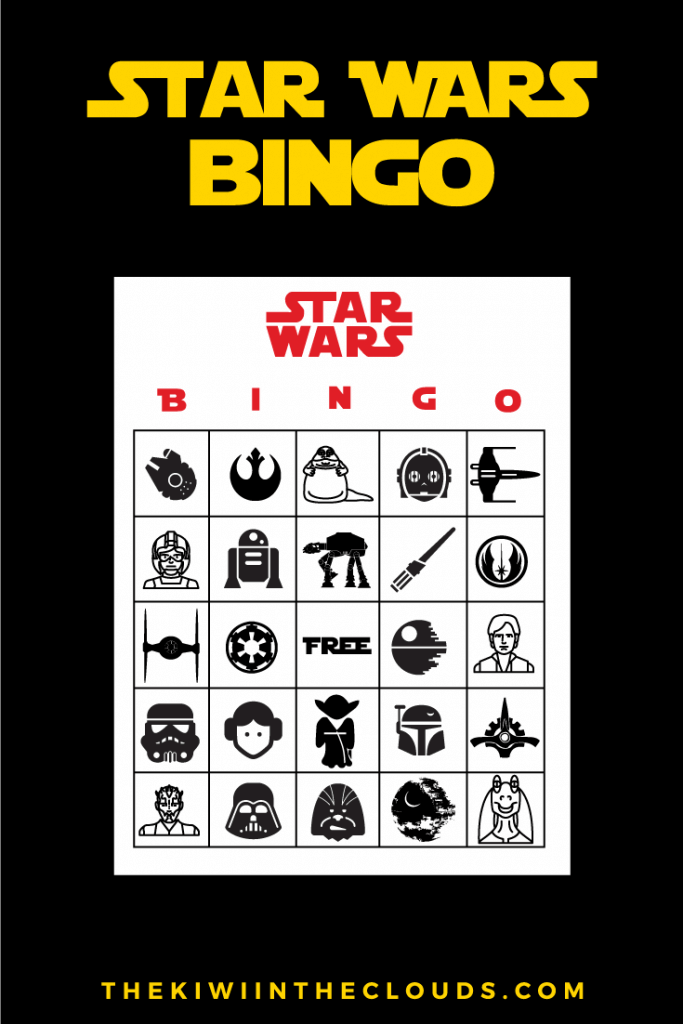 Star Wars Party Free Printables Bingo