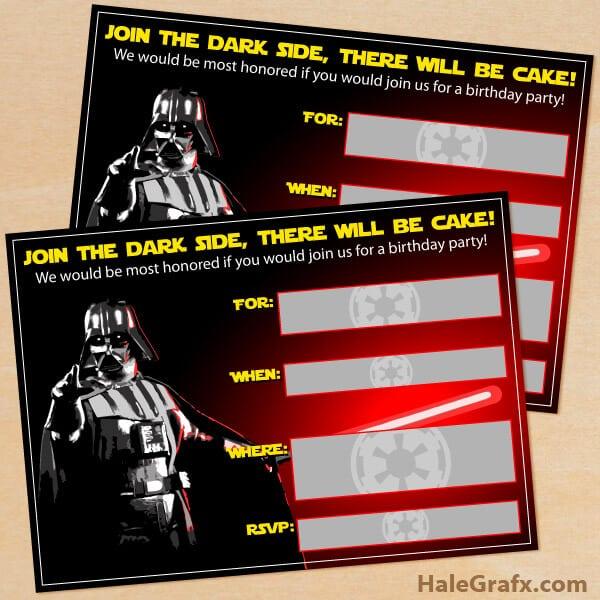 Star Wars Printable Invitations 104