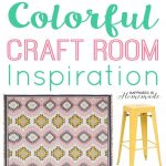Colorful Craft Room Design Board