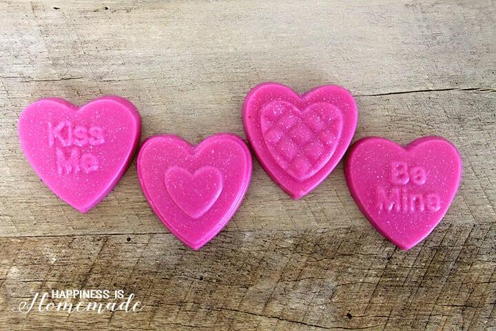Cranberry Pomegranate Soaps - DIY Valentine's Day Gift Idea