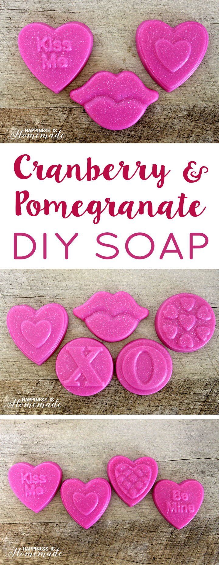 Cranberry and Pomegranate DIY Soaps