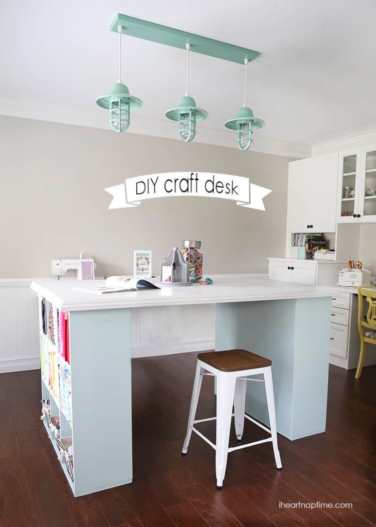 craft room desk ideas colorful craft room design board happiness is 4021