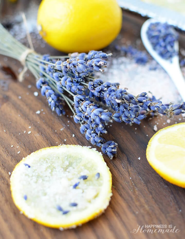 Lemon Lavender Salt Soak Tutorial - DIY Bath and Body Products
