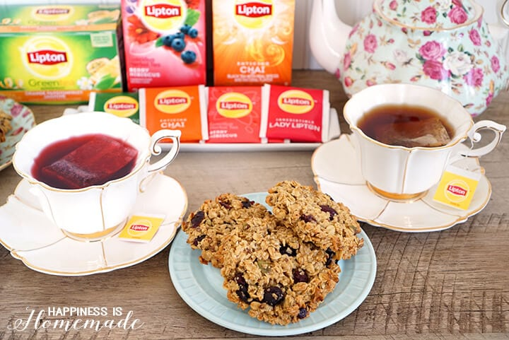 Lipton Tea Party with Chai Berry Breakfast Cookies