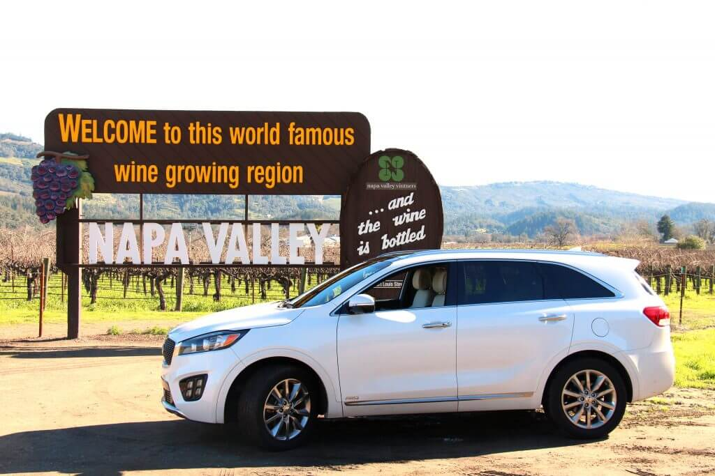 Napa Sign and Kia Sorento