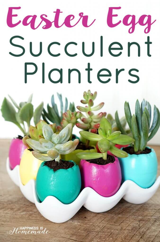 Ceramic Easter Egg Succulent Planters